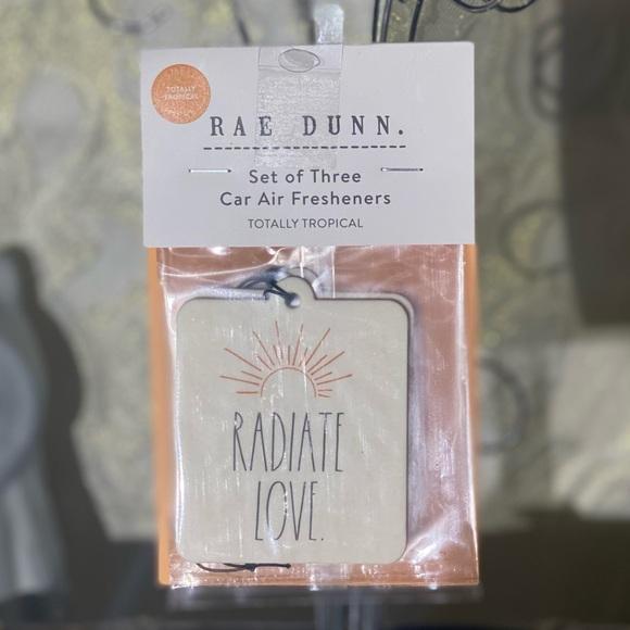 """Rae Dunn """"RADIATE LOVE"""" Car Air Freshners"""